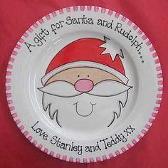Santa mince pie plate - Christmas