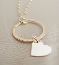 Circle my heart handcrafted sterling silver by hollybluejewelry, $55.00