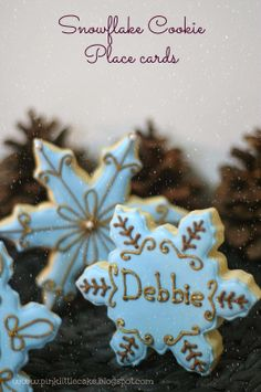 How to make Snowflake Cookie Place Cards