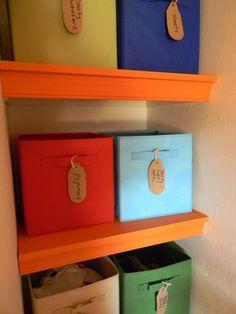 Children's room storage solutions.