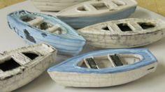 ceramic boats by Blayne. Raku.