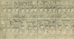 Les porte-bannières des corporations, Chronique J. Twinger de Koenigshoven, 1698. AVES, BH 2701