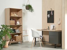 Trendy bureaustoel wit en modern bureau - kantoor   JYSK