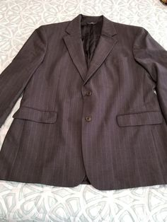 860151ca85ab9d Brooks Brothers 346 Size 44R Suit Jacket Gray PinStripe Stretch...Fall 2005  #