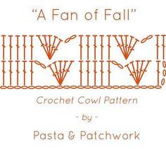 A Fan of Fall | Free Crochet Cowl Pattern by Pasta & Patchwork | Diagram