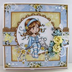 Hello my friends. I hope you had a nice weekend. I'm back from Sweden. It was really nice trip. I have fant. Scrapbooking, Scrapbook Cards, Pretty Cards, Cute Cards, Girl Birthday Cards, Wwe Birthday, Hobby House, Whimsy Stamps, Beautiful Handmade Cards