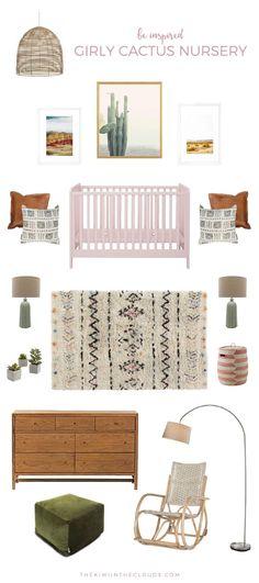 girls nursery ideas | cactus nursery | boho baby room | southwest