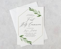 First Communion Invitation | First Holy Communion Invitations | Confirmation Invitation | First Communion Invites | Communion Invitation