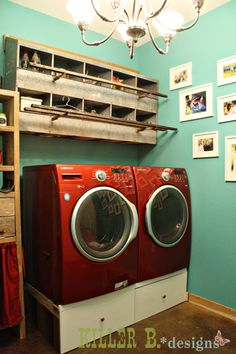 I have a couple rows of nesting boxes to use as decor, so I am looking for ideas! Laundry room would be useful!
