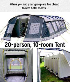 Who needs hotels? More memes, funny videos and pics on Funny Relatable Memes, Funny Jokes, Hilarious, Survival, Camping Car, Camping Hacks, Family Camping, Camping Ideas, Cool Inventions
