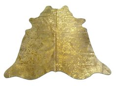 i-432 Gold metallic cowhide rug Size: 7 3/4 X 6 by Cowhidesusa