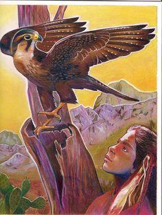 Endangered Species Day art contest 6-8 Grade Category winner: Claire Noelle Kiernicki, Age 12, Northern aplomato falcon