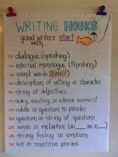 Writing hooks poster