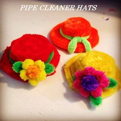 Pipe cleaner hats Pipe cleaner Hats tutorial is here…