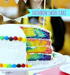Hi Sugarplum | Rainbow Swirl Cake by hi sugarplum!, via Flickr