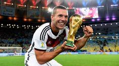 Lukas Podolski marcou 48 gols pela seleção alemã