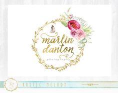 Insignia floral fotografía Logo, Logo artesanal, Boutique insignia, insignia de eventos, decoración logotipo, insignia de hoja de oro, boda insignia, insignia, marca de agua
