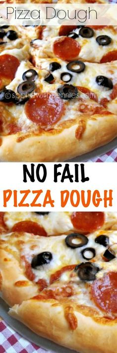 Easy No Fail Pizza Dough with Homemade Sauce!  This comes out perfectly every…