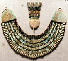 Ancient Egyptian beaded broad collar (2465-2323 B.C.).