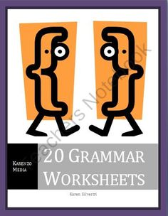 20 Grammar Worksheets from Karenzo Media on TeachersNotebook.com (40 pages)  - There are 20 grammar worksheets in this document that you can use with your class when studying grammar. Also use these worksheets for homework assignments, projections on the overhead, grammar centers, etc. Each worksheet provides a clear, brief descript