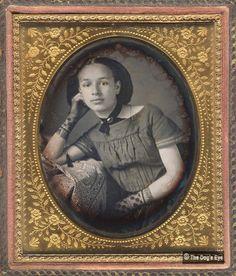 Young lady's portrait, daguerreotype, 1850s.