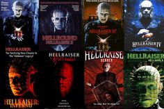 Hellraiser collection, 1987 to Best Horror Movies On Netflix. Horror movies from the Horror Movies On Netflix, Best Horror Movies, Best Horrors, New Chapter, Merry, Presents, Day, Movie Posters, Kiss