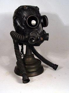 Dieselpunk: #Dieselpunk fashion ~ Gas Masks, by Bob Bassett.