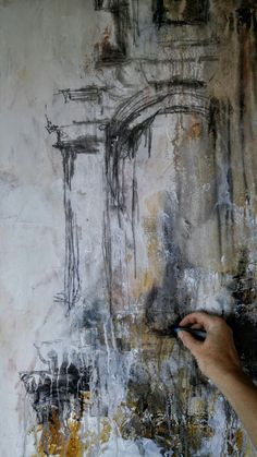 Painting in process by Canadian artist, Sharon W Huget Canadian Artists, Contemporary Paintings, Abstract Art, Artwork, Board, Abstract Backgrounds, Work Of Art, Auguste Rodin Artwork, Artworks
