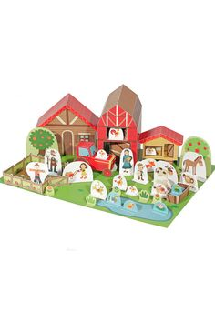 The Farm Paper Toy DIY Paper Craft Kit Paper Toy por pukaca