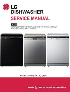 lg d1484wf d1484cf d1484bf dishwasher service manual
