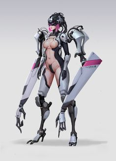 Cyborg, wenfei ye on ArtStation at https://www.artstation.com/artwork/l8Bze