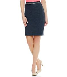 Antonio Melani Chase Twill Pencil Skirt