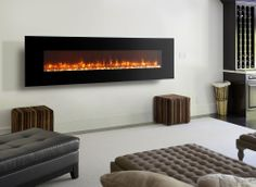 Dynasty LED Wall Mount Electric Fireplace *** Stunning ***  Quality Luxury item
