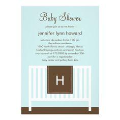 Modern Nursery Baby Shower Invitation (Blue) Cards