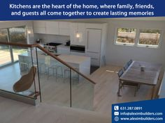 Kitchens are the heart of the home, where family, friends, and guests all come together to create lasting memories Contact us by sending a message on whatsapp and we will contact you 631.287.0891 #alexim #aleximbuilders #realestate #interior #homedesign #construction #architect #landscapedesign #outdoorliving #landscape #interiordesigner #gardendesign #architecturephotography #homesweethome #luxuryhomes #architecturelovers #renovation Hamptons House, The Hamptons, Custom Home Builders, Custom Homes, Home Developers, Lasting Memories, New Home Construction, East Hampton, Build Your Dream Home