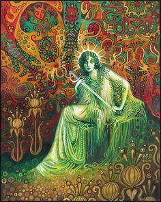 Reine des épées Tarot Art 11 x 14 impression par EmilyBalivet