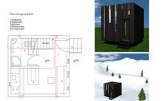 Micro House - Gabrijela Tumbas' compact dwelling concept measures in at just 22 m2 (appx. 236 sq. ft.) It sleeps 4, has a lofted bedroom, kitchen, dining and living quarters, a convertible sofa, and a bathroom.