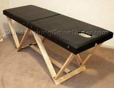 Free massage table plans to build a portable massage table with no more than handyman tools. Simple, step by step instrcutions, you don't have to be an expert.DIY woodwork project.