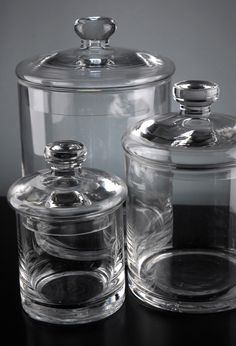 Clear Glass Canister Jars (Set of 3) - save-on-crafts