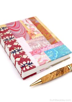 Patchwork Journal, Chiyogami Handmade Blank Book by RuthBleakley on Etsy