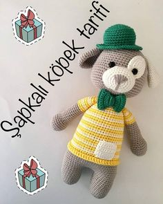 10 Pcs each other beautiful amigurumi crochet dog free patterns. In this article we will share the best amigurumi toy dog models. Crochet Dog Patterns, Crochet Kids Hats, Crochet Toys, Free Crochet, Knitted Hats, Dog Crochet, Amigurumi Animals, Amigurumi Free, Amigurumi Toys