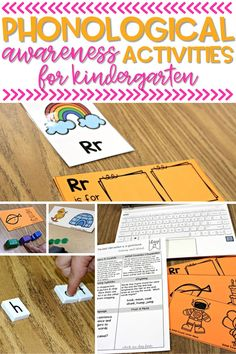 Looking for some fun phonological awareness activities for kindergarten? These kindergarten literacy activities address important phonological awareness skills like first sound, onset and rime, and segmenting and blending.