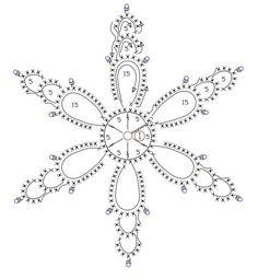 Crochet snowflakes, free crochet patterns