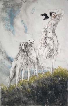 Hound Life: Vintage Sighthound Art.  Louis Icart.