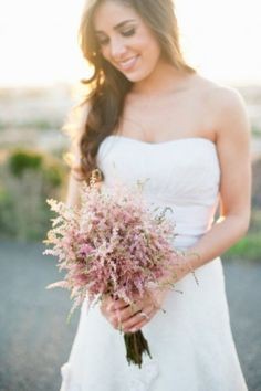 Pale pink astilbe bouquets by Floral Theory, photo by Pictilio via Elizabeth Anne Designs