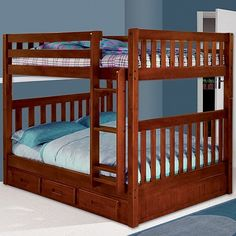 full over full bunkbeds with a twin size tundrell bed- wish I had this years ago!