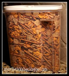 Sweet and Salty snack mix. Easy for travel, perfect for kids
