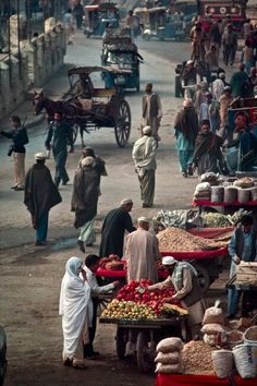 Afghanistan marketplace is popular for buying fresh produce and other items needed to cook