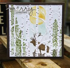 Stampin' Up! Woodland Embossing folder countless possibilities. #stampinup #malecards #zoetant