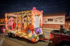 Lights, Camera, Action parade theme - - ours was How the Grinch Stole Christmas